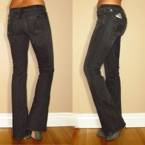 7 For All Mankind Off Black Flare A Pocket Jeans